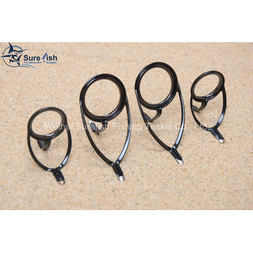 Free Shipping Stainless Steel Frame Sic Fishing Rod Guide