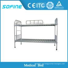 SF-DJ113 Dormitorio escolar de acero inoxidable de hierro forjado cama doble