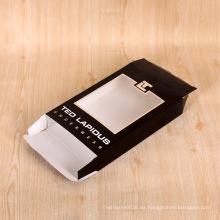 Caja de papel de empaquetado plegable de la ropa interior modificada para requisitos particulares con la ventana clara