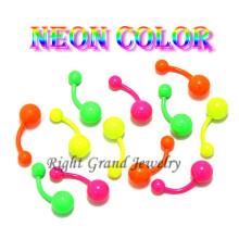 Цветной анодированного пупок пирсинг украшения