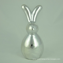 Electroplating Colorful Ceramic Rabbit with Long Ears
