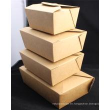 Caja de papel de Kraft desechable personalizada