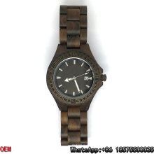 Relojes de madera de alta calidad, reloj de cuarzo, reloj de fecha Hl06