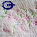 tissu de maille nid d'abeille de coton de polyester pour le vêtement