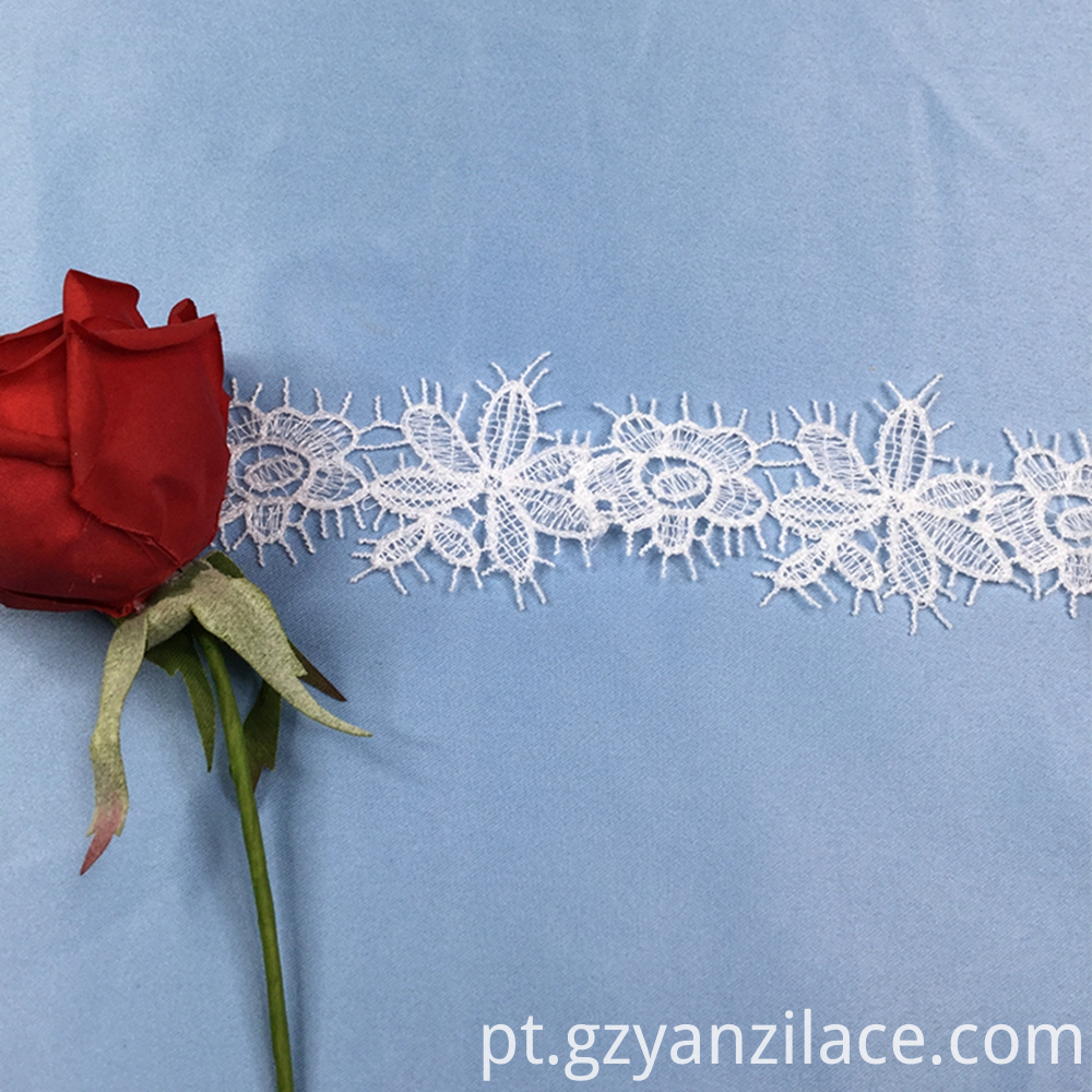 Wide White Lace Ribbon