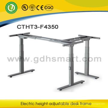 Bureau de bureau électrique réglable en hauteur bureau ordinateur table en métal cadre de bureau