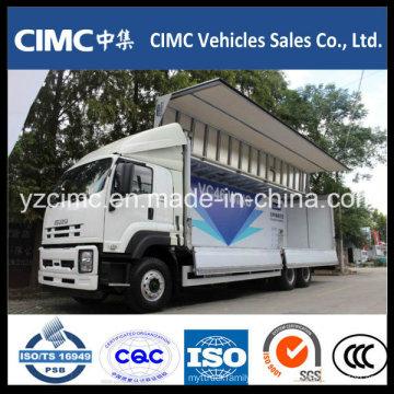 Isuzu Qingling 10 Wheeler Ala de aluminio Van