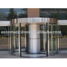 Porte tournante automatique à colonne centrale
