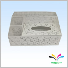Office items white metal powder coated multifunctional toilet paper box holder