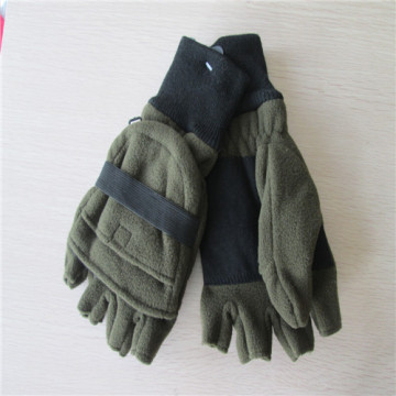 Men's Fleece Cut Finger Gloves with the Cap