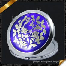 Miroir en métal bleu (MW016)