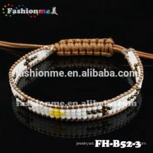 Fashionme novo envoltório frisado pulseira encantos