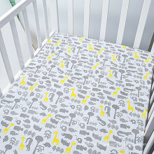 Amazon 2017unique design soft cotton baby crib sheet