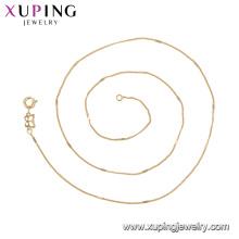 44720 xuping jóias simples moda 18k banhado a ouro colar de corrente