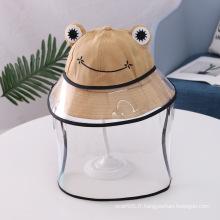 Chapeau anti-gouttelettes grenouille marron pour enfant