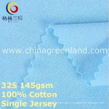 Хлопок одиночный Джерси трикотажные ткани для одежды рубашка (GLLML377)