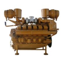12V190 V-Zylinder-Gas-Motor mit Doppel-Welle-Leistungsbereich von 450KW-550KW