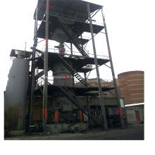 Gazéification de charbon en deux étapes pour station de gaz froide