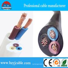 RV Rvv Медь 300 / 500V Гибкий плоский кабель оболочки ПВХ-кабель