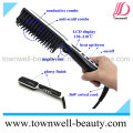 Newest Professional Electric LCD Brush Hair Straightener