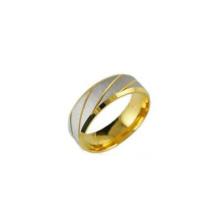 Cheap atacado anel de aço inoxidável, jóias anel de ouro