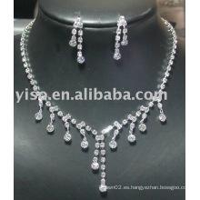 Conjunto de joyas de cristal