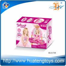 2014 Wholesale plastic children toy dresser set, girl beauty dresser toys H121739