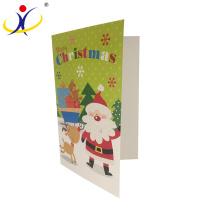 Logo adapté aux besoins du client! Cartes de voeux décoratives de Noël de mode avec l'impression de Père Noël
