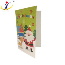 Customized Logo!Fashion Christmas Decorative Greeting Cards with Santa Claus Printing