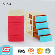 Tabletop storage chest of drawers plastic for container sundries