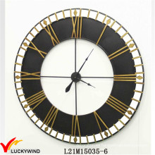 Reloj de pared industrial antiguo del arte del metal del estilo antiguo de la vendimia grande para el hogar y la decoración al aire libre