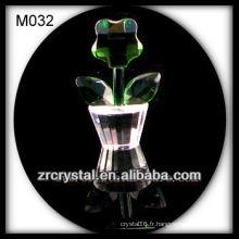 Belle décoration de fleur de cristal
