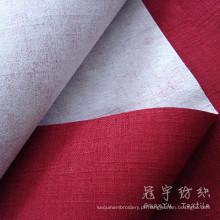 Fr poliéster sofá de linho tecido revestido de linho Home produtos têxteis