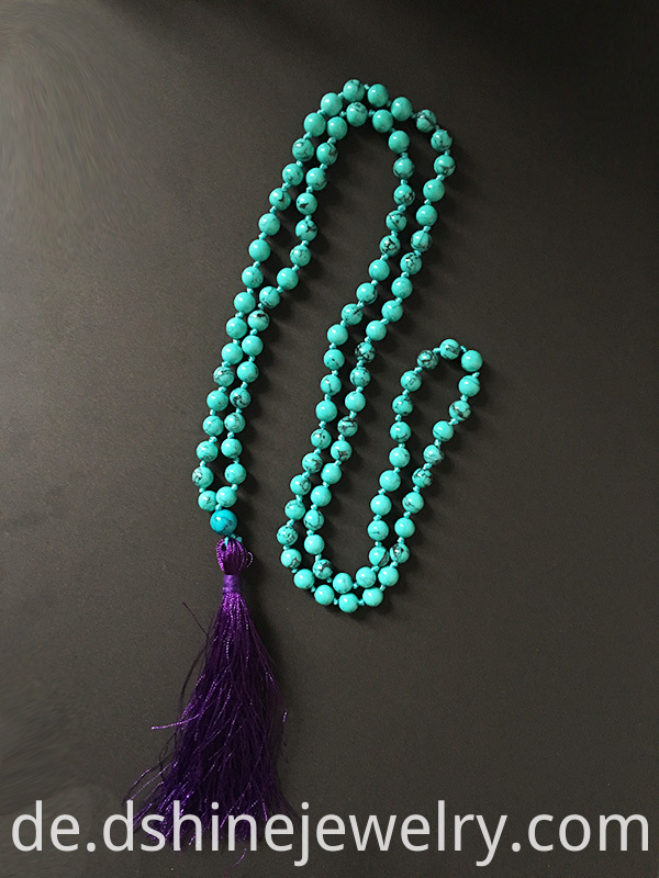 turquoise necklace, long tassel necklace, skull necklace,