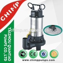 V series submersible water pumps with cutting system 1.5hp with float switch