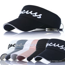 OEM Sports Golf Sports Cotton Leisure Promotional Summer Visor Cap