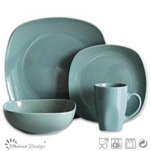 Ensemble de vaisselle 16PCS en forme de couleur bleue