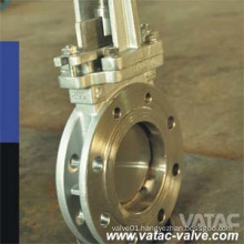 Double Flanged Stainless Steel Rising Stem Knife Gate Valve