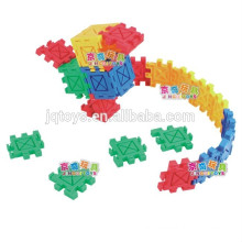 2015 kids plastic puzzle brick block toy