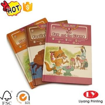 Impressão de novela de livro de capa dura de crianças