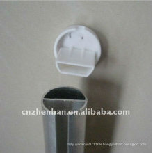 curtain rod-Round Aluminum bottom rail with plastic end cap