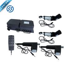 Actuador lineal de elevación de sofá / cama automática con caja de control para controlar 4 actuadores lineales