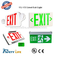 NEW Green HUBBELL Aluminum LED Emergency EXIT Light for PARTS Only NO Battery