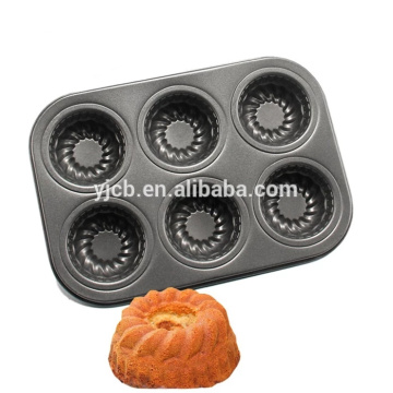 6 Tassen Backform Mini Pudding Cake Backformen
