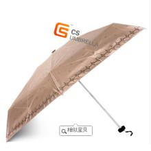 Aktion 5 Falten Regenschirm & Geschenk-Regenschirm (YS-5F1001A)