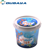 bucket food packaging IML container with cover