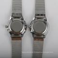 stainless steel mesh watch ladies quartz thin watch