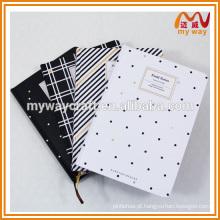 Livro de exercícios de alta qualidade, caderno de capa rígida com papel grosso