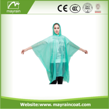 Poncho antipioggia monouso per adulti in Clear PE