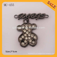 MC455 Moda característica logotipo de marca de metal personalizado etiquetas para bolsas